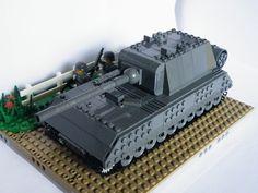"""LEGO Panzerkampfwagen VIII """"Maus"""" Super heavy tank 1:45-1:60"""