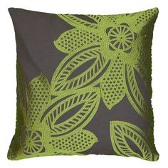 Rizzy Home Contemporary Floral Throw Pillow, Green