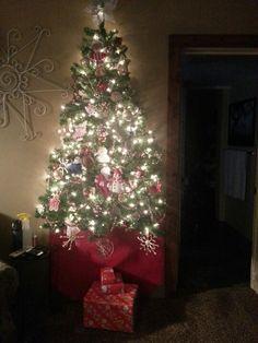 Wall christmas tree. Room saver