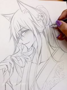 tomoe kamisama | Tumblr Tomoe, Kamisama Kiss, Anime Drawings Sketches, Anime Sketch, Manga Drawing, Anime Demon, Manga Anime, Anime Art, Cute Anime Boy