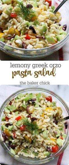 Lemony Greek Orzo Pasta Salad