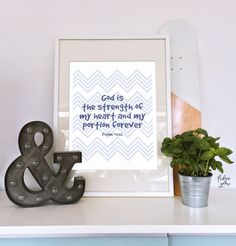 Psalm 73:26 The strength of my heart Chevron illustration