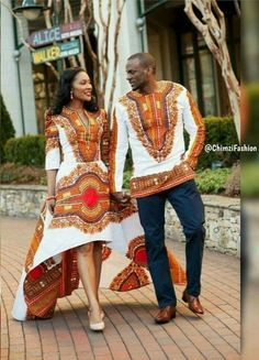 Dashiki Couples Outfit for Prom/Engagement Couples Outfit