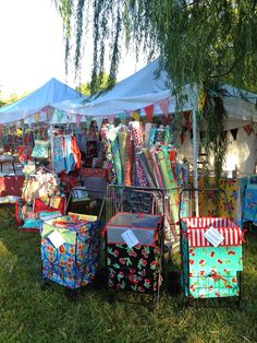 Our handmade Housewares mixed with items that were found at market and on Etsy! The Modern June booth at Country Living Fair. #clfair