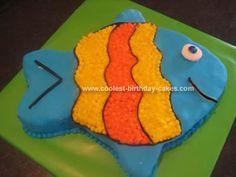 Homemade Fish Birthday Cake