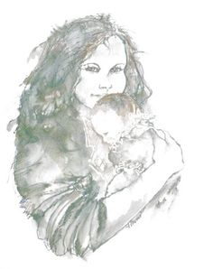 """""""So Precious"""" by Victoria Glover using pen and ink #art"""