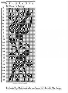 Double Knitting Patterns, Fair Isle Knitting Patterns, Knitting Charts, Knitting Stitches, Crochet Patterns, Filet Crochet Charts, Crochet Borders, Crochet Curtains, Tapestry Crochet