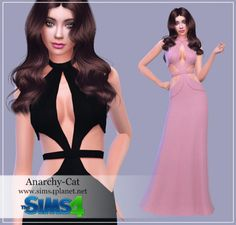 Anarchy-Cat: SLYD Karlie Dress recolor • Sims 4 Downloads