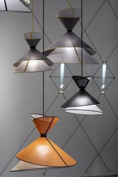 Pendant light Grand Kimono - White and Black Modern Lighting Design, Interior Lighting, Ceiling Light Design, Ceiling Lights, Industrial Style Lamps, Corporate Interior Design, Deco Luminaire, Lamp Design, Home Interior