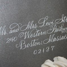 wedding calligraphy | Calligraphy Wedding Envelope Addressing by ArtfulCelebrations