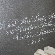 wedding calligraphy | Calligraphy Wedding Envelope Addressing by ArtfulCelebrations