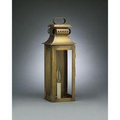 Northeast Lantern Concord 1 Light Outdoor Flush Mount Finish: Dark Antique Brass, Shade Type: Frosted