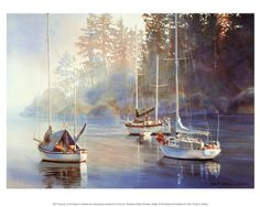 Serenity - Kiff Holland - Vancouver artist. Reminds me again of my sail trip around the San Juans