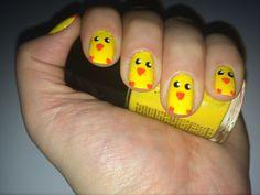 Uñas Con Pollitos/Nails With Chicks Nail art MX