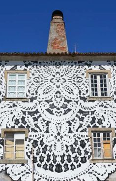 Polish Artist Covers City Streets In Intricate Lace Patterns