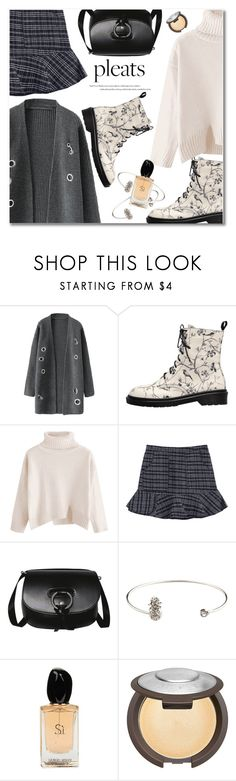 """pleats"" by svijetlana ❤ liked on Polyvore featuring Giorgio Armani, Becca, pleats and zaful"