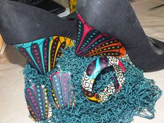 Accessories - Fabric-Covered Jewellry: Bangle and Earrings, and Shoe Heels done by SengaRee Accents...