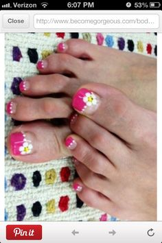 Pretty Pedicure Nail Art Designs - Get your toenails looking all trendy this early fall by sporting the prettiest pedicure nail art designs. Pedicure Nail Art, Pedicure Designs, Toe Nail Art, Toe Nails, French Pedicure, Pedicure Ideas, Acrylic Nails, Pretty Pedicures, Pretty Nails