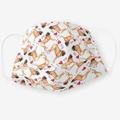 I Love my Mastiff Cloth Face Mask   pug shirt, pug birthday cake, pug costume halloween #christmascountdown #pugpillow #Rescue Pug Birthday Cake, Pugs In Costume, Pug Pillow, Pug Shirt, Christmas Countdown, Secret Santa, Snug Fit, Sensitive Skin, Funny Bulldog