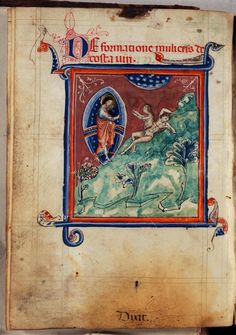 Treatise of the World's Creation - World Digital Library Medieval Manuscript, Illuminated Manuscript, Duccio Di Buoninsegna, Book Of Genesis, Medieval Times, Adam And Eve, Watercolor Drawing, Sacred Art, Christian Art