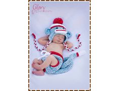 Monkey Hat and Diaper Cover Crochet Pattern #baby #DIY