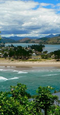 Entrance to Tairua estuary, Coromandel, North Island, NZ Beaches In The World, Places Around The World, Travel Around The World, Around The Worlds, Tasmania, The Beautiful Country, South Island, Nature Pictures, Vacation Trips