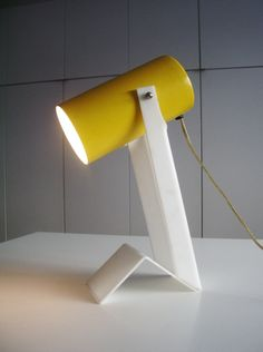 1960s Modernist Table Lamp in lucite and enameled steel - Modern Love: Mid-Century Modern Furniture, Lighting, Design