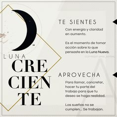 Luna Creciente Spiritual Messages, Spiritual Life, Magick, Witchcraft, Wiccan, Tarot, Baby Witch, Sabrina Spellman, Magic Words