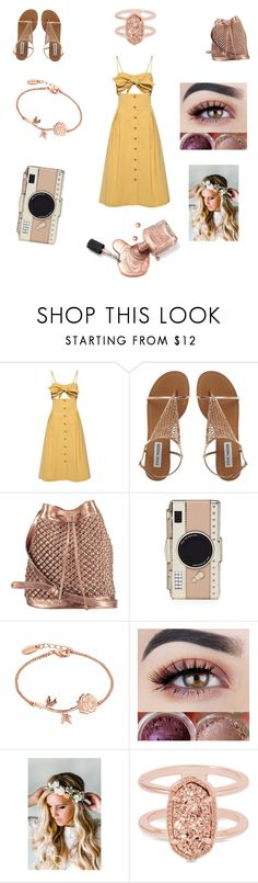"""Really bad"" by pschuy ❤ liked on Polyvore featuring Sea, New York, nooki design, Kate Spade, Emily Rose Flower Crowns, Kendra Scott, contest, ew, yellowdress, contestentry and thisissobadlol"
