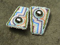 Art Deco Meets Navaho Stud Earrings by LisaPierceJewelry on Etsy, $95.00
