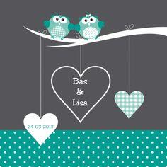 Geboortekaartje uiltjes tweeling - Geboortekaartjes - Kaartje2go