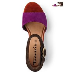 Tamaris, Mocca Comb - Suede Leather Sandal - I have these!