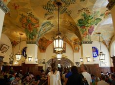 Inside the famous Hofbräuhaus, Munich, Germany!
