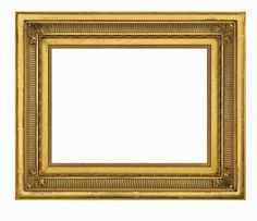 TV Frame  M8020 - AMERICAN: This 19th century American Hudson River School frame design has a beautifully burnished outside edge, gilded in 22K gold. The fluted cove pattern is complemented by acanthus leaf corners, a flat inner panel and intricate ornamentation on the inside lip. Width: 2.5