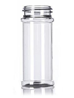 Clear Plastic Spice Jars w/ Sifter Cap (Food Grade - BPA Free)