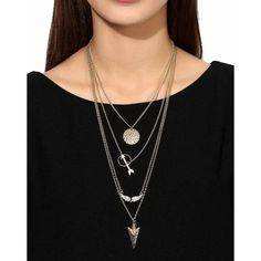Crunchy Fashion Stylish Party Wear Style Diva MultiLayer Necklace #Jewelry #Fashion #Party