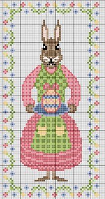 Lovely heart things: Cross Stitch: Funny collection of Easter rabbits Free Cross Stitch Charts, Cross Stitch Freebies, Blackbird Designs, Diy Embroidery, Cross Stitch Embroidery, Cross Stitch Designs, Cross Stitch Patterns, Cross Stitch Numbers, Easter Cross