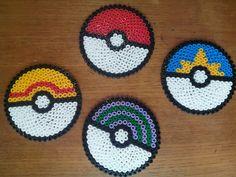 Perler beads pokeball coaters