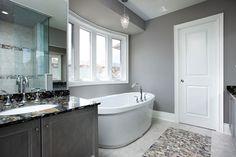 gray bathroom | Gray Bathroom - contemporary - bathroom - toronto - by Jane Lockhart ...