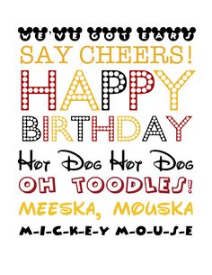 FREE Mickey Mouse-Themed Birthday Printable Mickey Subway Art