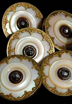 Vintage Gold and MOP Buttons