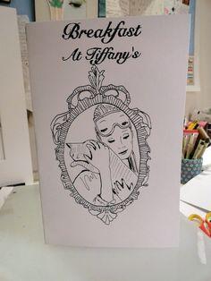 {Breakfast At Tiffany's Audrey Hepburn} book/ zine