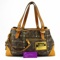 #LV Riveting Monogram Canvas With Leather Gold Hardware Fair Condition ref.code-(BVEKT-2)