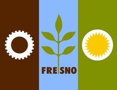 Have you ever noticed this flag flying outside of the Fresno Convention Center?  It's the official city flag of our town.