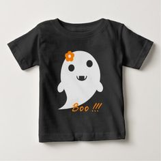 Cute Halloween Ghost Baby T-Shirt - baby gifts child new born gift idea diy cyo special unique design