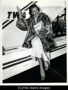 Download this stock image: Feb. 26, 2012 - Linda Christian, who recently was reported to be separated from her husband, Tyrone Power, arrives in New York o - E12Y0C from Alamy's library of millions of high resolution stock photos, Stock Photo, illustrations and vectors.