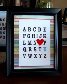 have kids stamp letters?