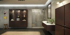 Klassiskt, modernt badrum med element i rökt ek   Bath_C-Series_Smoked_Oak_2.jpg (2193×1099)
