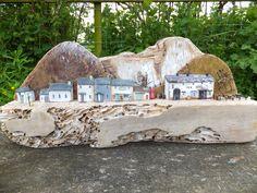 Cysgod yr Wyddfa - driftwood scene by Trysorau Cymraeg. Made from recycled materials, including Welsh Slate.