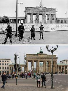 Photo gallery: Berlin views before and after the reunification West Berlin, Berlin Wall, East Germany, Berlin Germany, Old Pictures, Old Photos, Berlin Hauptstadt, Berlin Photos, Historia Universal